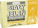 BIAŁY JELEŃ Mydło Hipoalergiczne Premium Z Owsem 100g