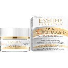 EVELINE Skin Action Booster Krem-Koncentrat Rozświetlający i Przeciwzmarszczkowy Na Dzień i Noc 50ml