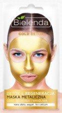 Bielenda Gold Detox Metaliczna Detoksykująca Maseczka Cery Dojrzałej Oraz Wrażliwej 8g