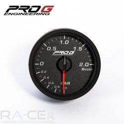 Elektroniczny wskaźnik turbo ProG 52mm, 2 BAR (amber red)
