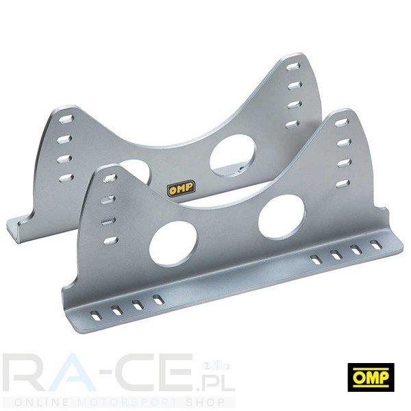 OMP, Mocowanie boczne, aluminiowe 400mm długości, 6mm grubości. Niskie. Srebrne lub czarne. FIA