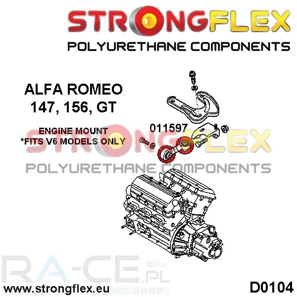Alfa Romeo, Poduszka - stabilizator silnika v6