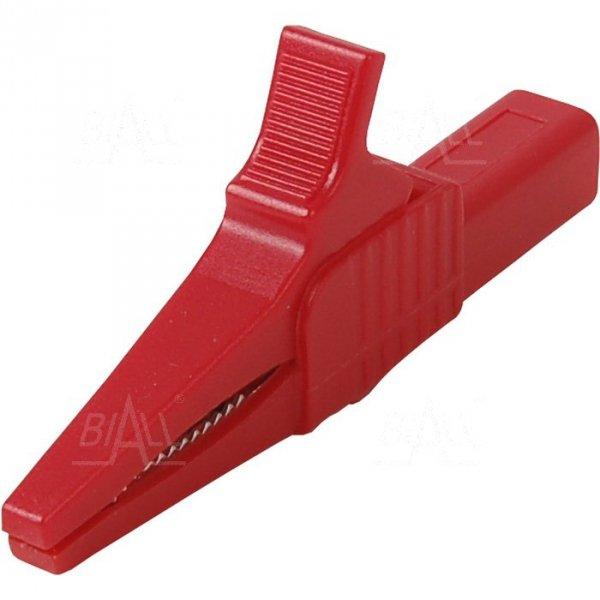 Krokodylek bezp. gn. 4mm KK262-R CAT II 1000V 19A czerwony