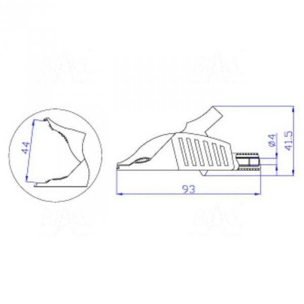 Krokodylek bezp. gn. 4mm KK263-R CAT III 1000V 19A