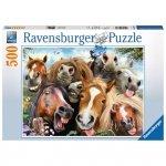 Ravensburger Puzzle 500 elementów Końskie selfie