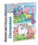 Clementoni Puzzle 2x20 elementów Jednorożce