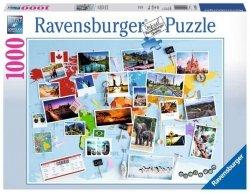 Ravensburger Puzzle 1000 Elementów Podróż dookoła Świata