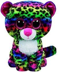Meteor Maskotka TY Beanie Boos Dotty - kolorowy leopard, 15 cm