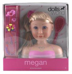 Głowa do stylizacji Megan z akcesoriami