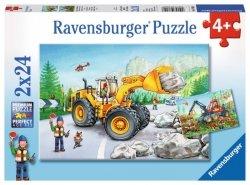 Ravensburger Puzzle 2x24 elementy Maszyny w Pracy