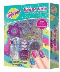 Manicure Studio Zestaw brokatowy fioletowy