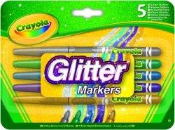 Crayola Markery brokatowe 5 sztuk