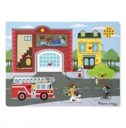 Melissa & Doug Puzzle drewniane dźwiękowe Straż pożarna