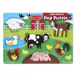 Melissa & Doug Puzzle drewniane - Zwierzęta z farmy