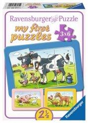 Ravensburger Układanka 3 x 6 elementów - Dobrzy przyjaciele zwierząt