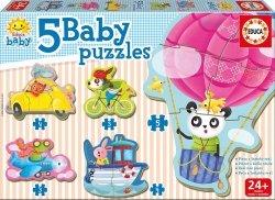 Puzzle Baby 19 elementów Zwierzęta w pojazdach