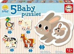 Educa Puzzle Baby 14 elementów Farma