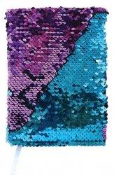 Stnux Notes cekinowy fioletowo-niebieski