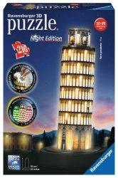 Ravensburger Puzzle 3D Krzywa Wieża w Pizie nocą