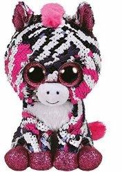 Meteor Maskotka Beanie Boos Flippables Cekinowa Zebra Zoe 15 cm