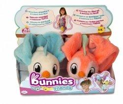 Tm Toys Pluszowy ptak Bunnies Friends 2pak biało-niebieski i różowy