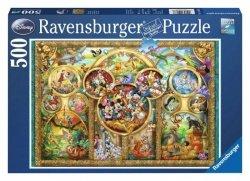 Ravensburger Puzzle 500 elementów Rodzina Disneya