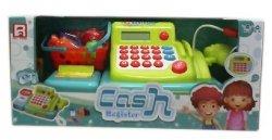 ASKATO Kasa sklepowa z kalkulatorem, taśmą i mikrofonem