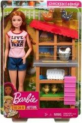 Lalka Barbie Farmerka z kurnikiem