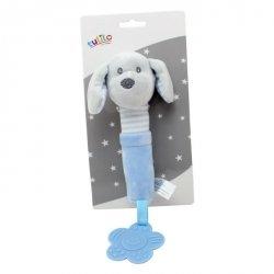 Zabawka z dźwiękiem New Baby Piesek niebieski 17 cm