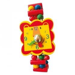 BINO Drewniany zegarek lew