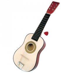 BINO Drewniana gitara sześciostrunowa 60cm