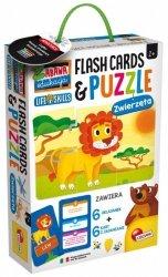Lisciani Puzzle dla dzieci i karty-fiszki