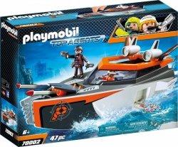 Playmobil Klocki Spy Team Łódź turbo