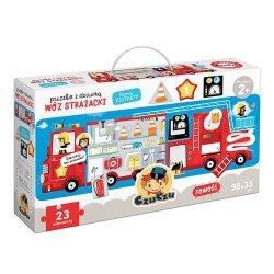 CzuCzu Puzzle z dziurką Wóz strażacki 23 elementy