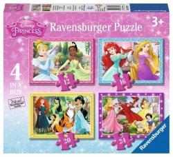Puzzle Księżniczki Disneya 4w1