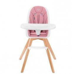 Kinderkraft Krzesełko do karmienia Tixi 2w1 różowe
