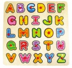Brimarex Układanka TOP BRIGHT Puzzle drewniane Duże litery