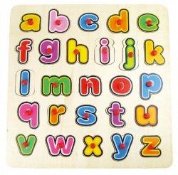 Brimarex UkładankaTOP BRIGHT Puzzle drewniane Małe litery