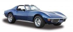 Maisto Model kompozytowy Chevrolet Corvette 1970 niebieski 1/24