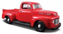 Maisto Model kompozytowy Ford F1 Pickup 1948 czerwony 1/25