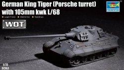 Trumpeter Plastikowy model do sklejania King Tiger w/ 105mm kWh L/68 Porsche Turret