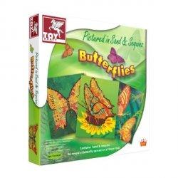 Toy Kraft Motyle do zdobienia piaskiem i cekinami