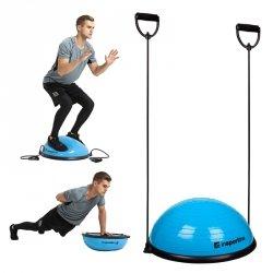 Podkładka balansująca bosu do ćwiczeń inSPORTline Dome UNI z linkami Kolor Szary