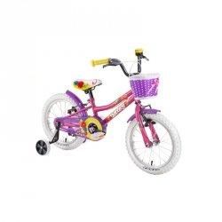 """Rower dziecięcy DHS Daisy 1604 16"""" - model 2019 Kolor Fioletowy"""