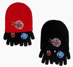 Komplet czapka jesienna / zimowa i rękawiczki Spiderman : Rozmiar: - 54 cm