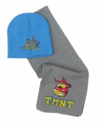 Komplet czapka jesienna / zimowa i szalik Wojownicze Żółwie Ninja : Rozmiar: - 51 cm