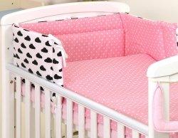 Zestaw pościeli niemowlęcej 5 elementów Chmurki-Kropki