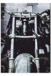 Blacha dekoracyjna / ozdobna Bike garage : Rozmiar: - L