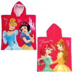 Ręcznik ponczo z kapturem Księżniczki Disney