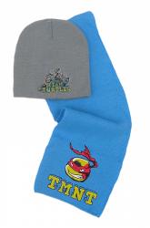 Komplet czapka jesienna / zimowa i szalik Wojownicze Żółwie Ninja : Rozmiar: - 54 cm